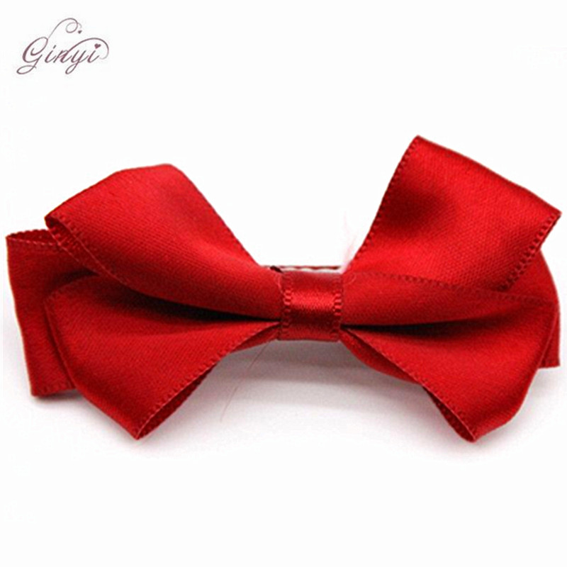 Wholesale Satin Ribbon Hair Bow Bowknot Baby Alligator Clips GYHB-5002