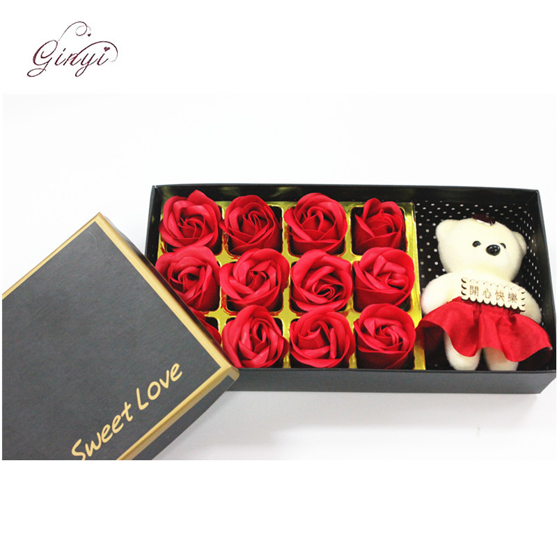 Gift Wrapping Valentines Artificial Roses Box Set Artificial Soap Flower GYHB-5301